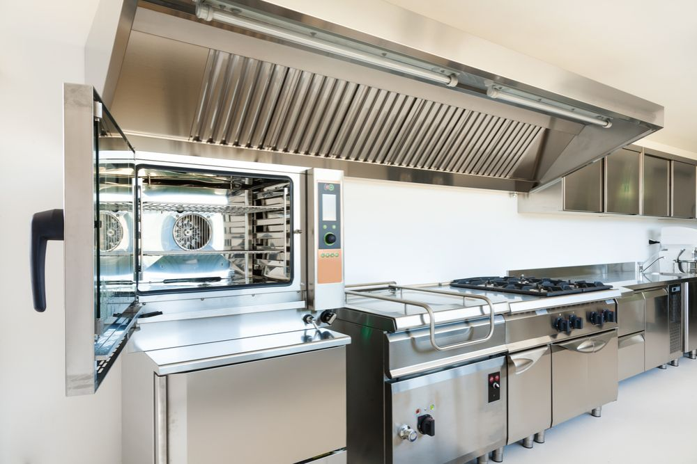 Picture of a fully cleaned and serviced commercial kitchen