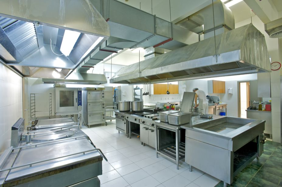a photo of a cleaned commercial kitchen